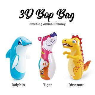 Intex 3D Bop Bag Inflatable Blow Up Punching Animal Dummy Tiger Dinosaur Dolphin