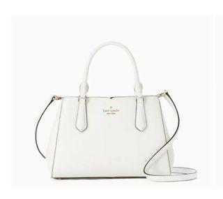 BNWT Kate spade classic small sling bag in White