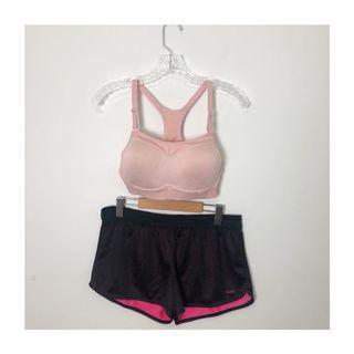 La Vie En Rose Sports Bra & Champion Shorts set