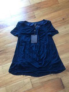 Louis Vuitton LV Blue Blouse Top
