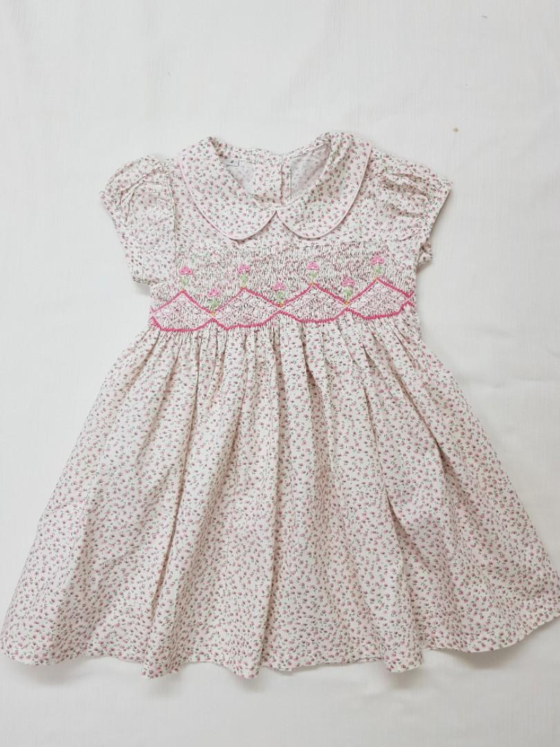 Girls Smocked Dress BNWT  Two Available One Age 2yrs /& One Age 4yrs