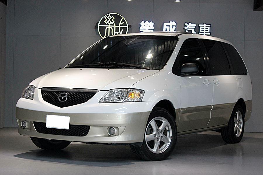 2002年 Mazda MPV正七人座 超低里程僅跑9萬!有安卓機,CP值超高!