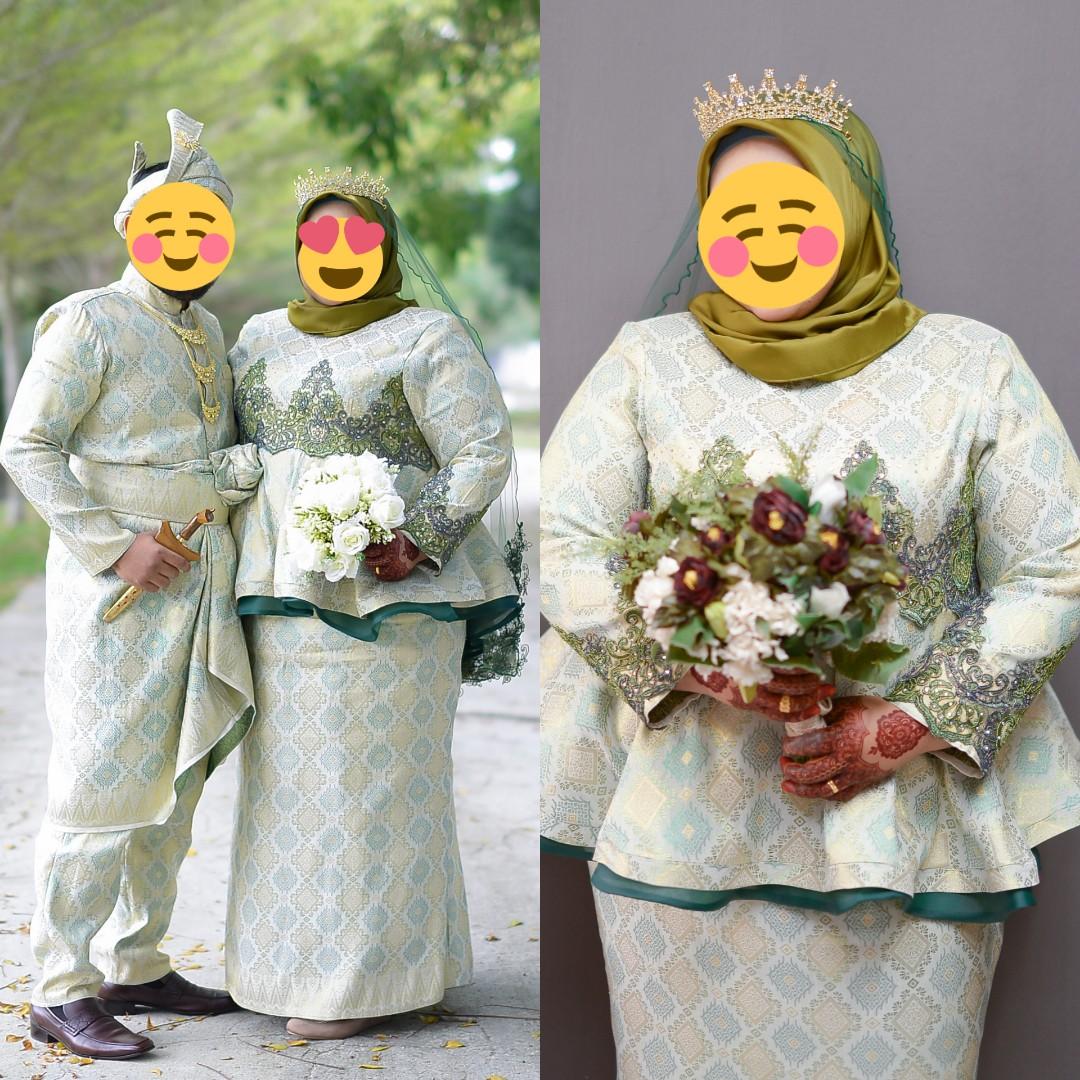 Baju Pengantin(perempuan plussize boleh kecik dan besar)include baju  pengantin lelaki size M-L