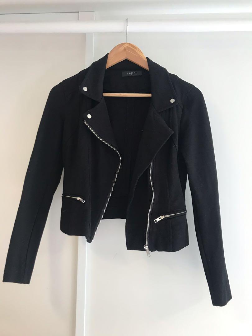 Black cropped jacket size 6-8