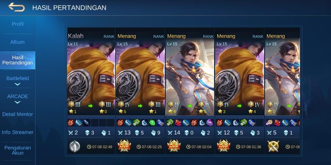 Boosting mobile legend
