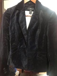 H&M black velvet blazer