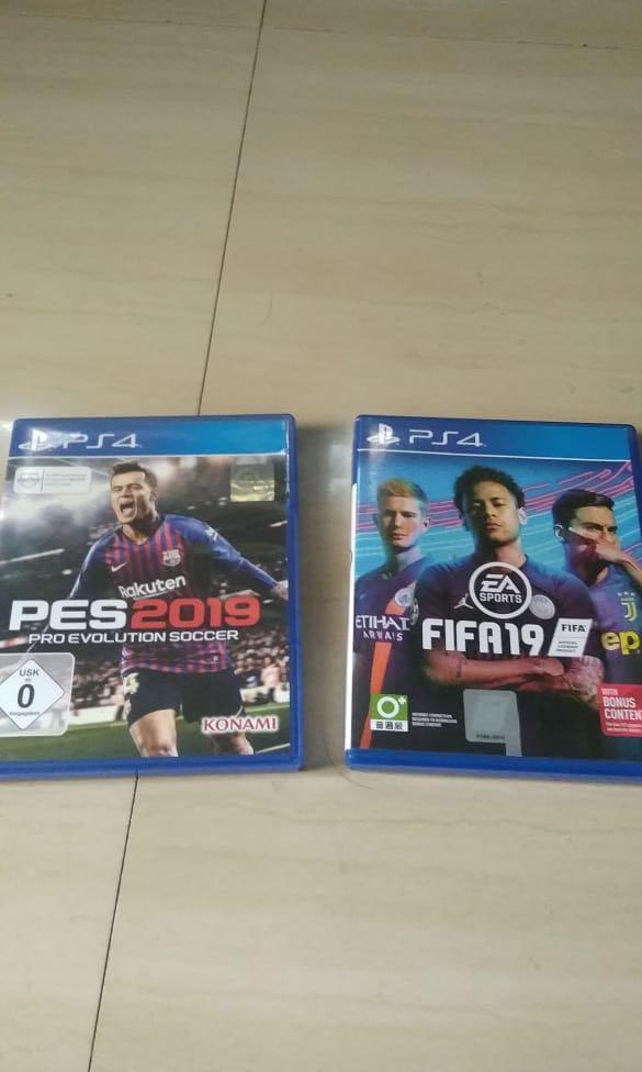 KASET BD PS 4 FIFA 19 & PES 19