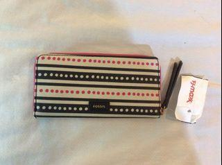 NEW with Tags Fossil Zip Around Leather Long Wallet Clutch from USA Coach Kate Spade Marc Jacobs Michael Kors