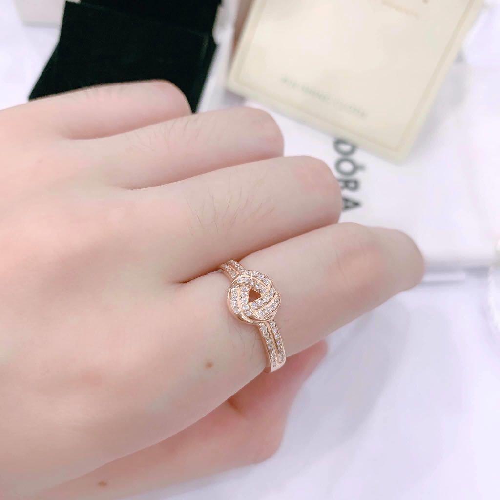 Pandora Love Knot Ring Women S Fashion Jewelry Rings On Carousell