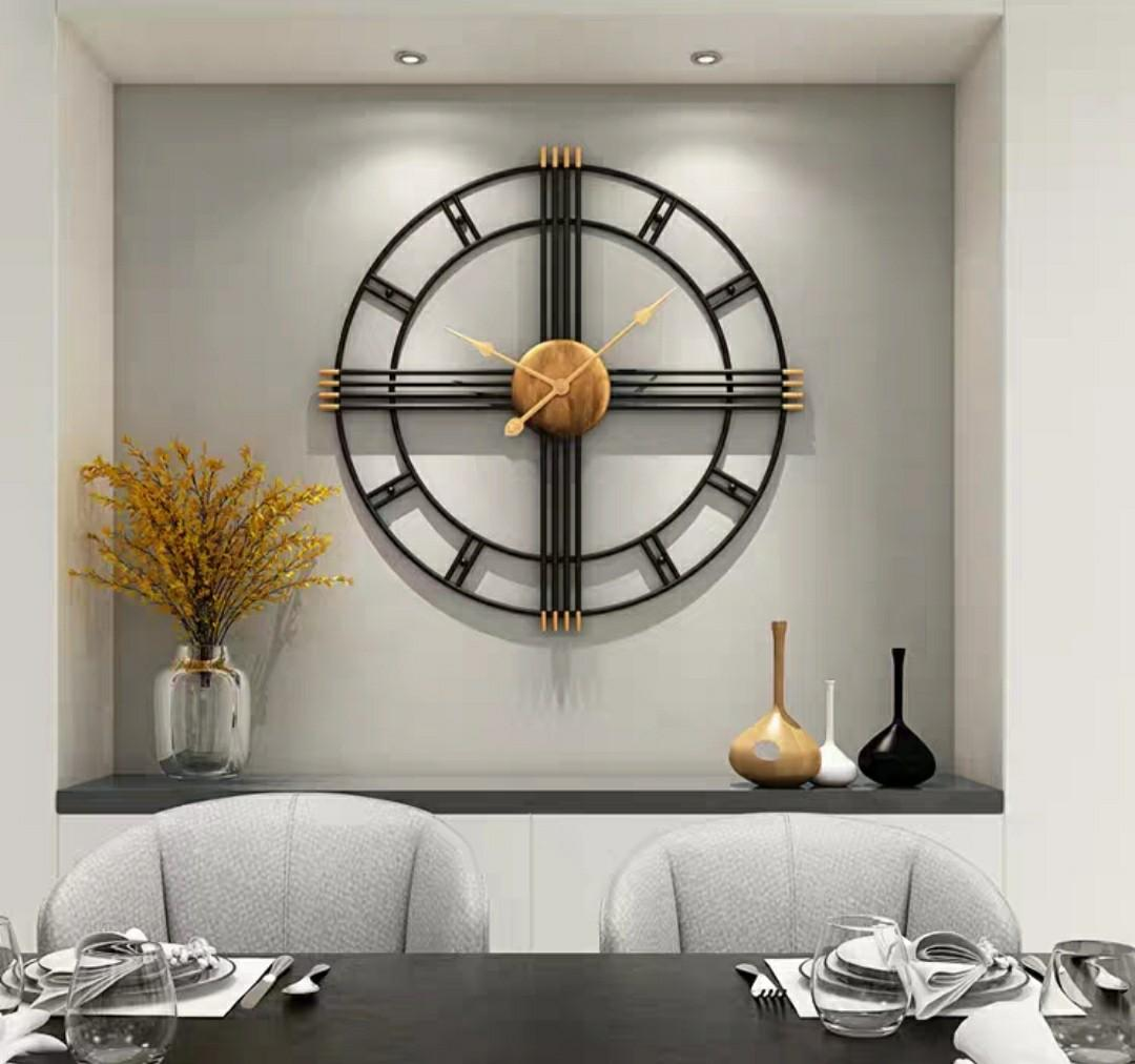 Po Modern Wall Clock Furniture Home Decor Others On Carousell