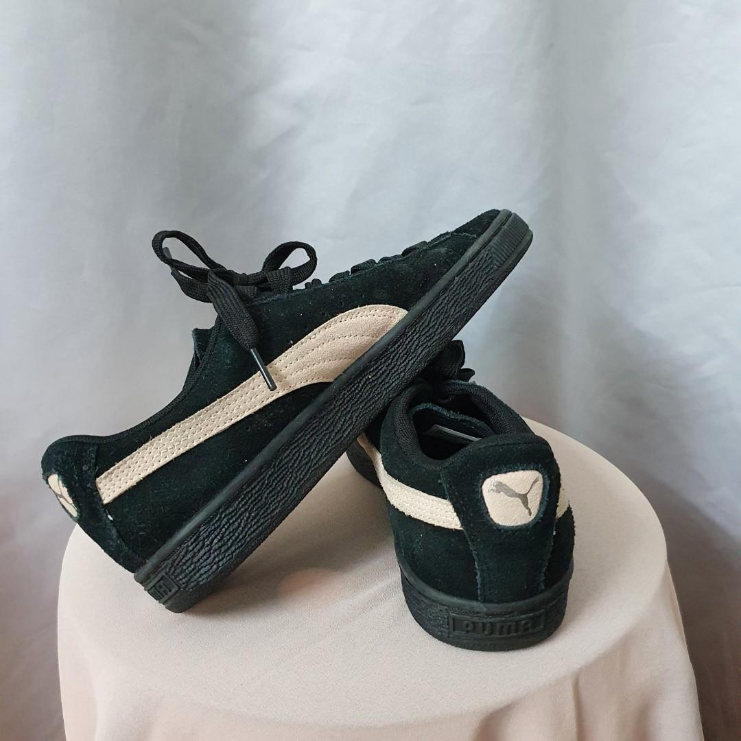 PUMA SUEDE (BLACK WITH PEACHY PINK