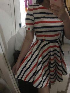 Tri-color petite dress