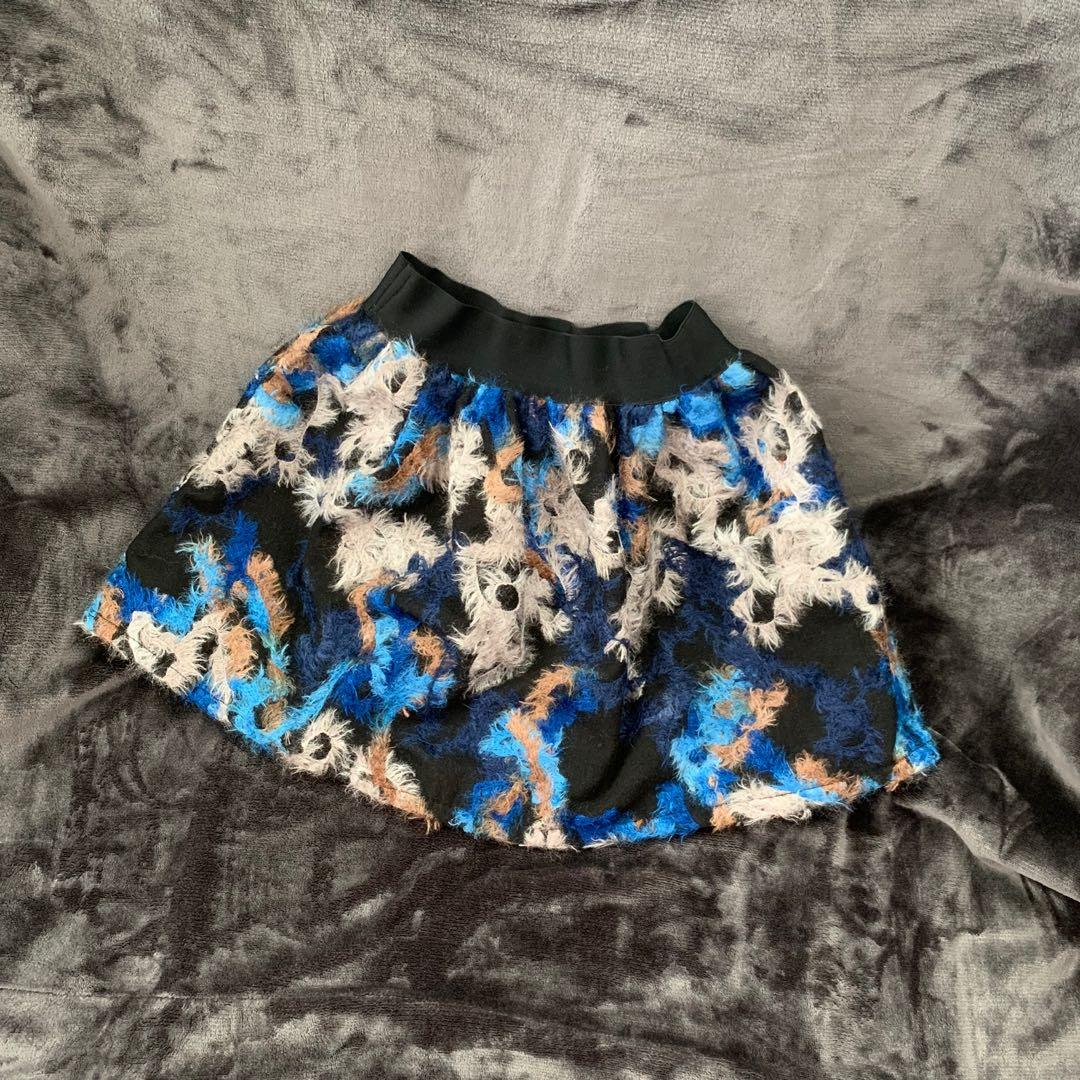 Vintage style blue pattern skirt🦋