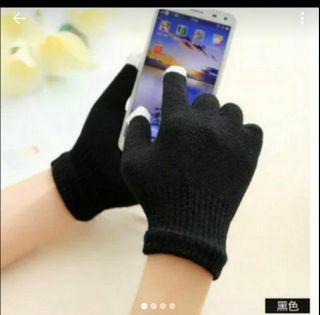 可觸碰手機式手套送毛冷球