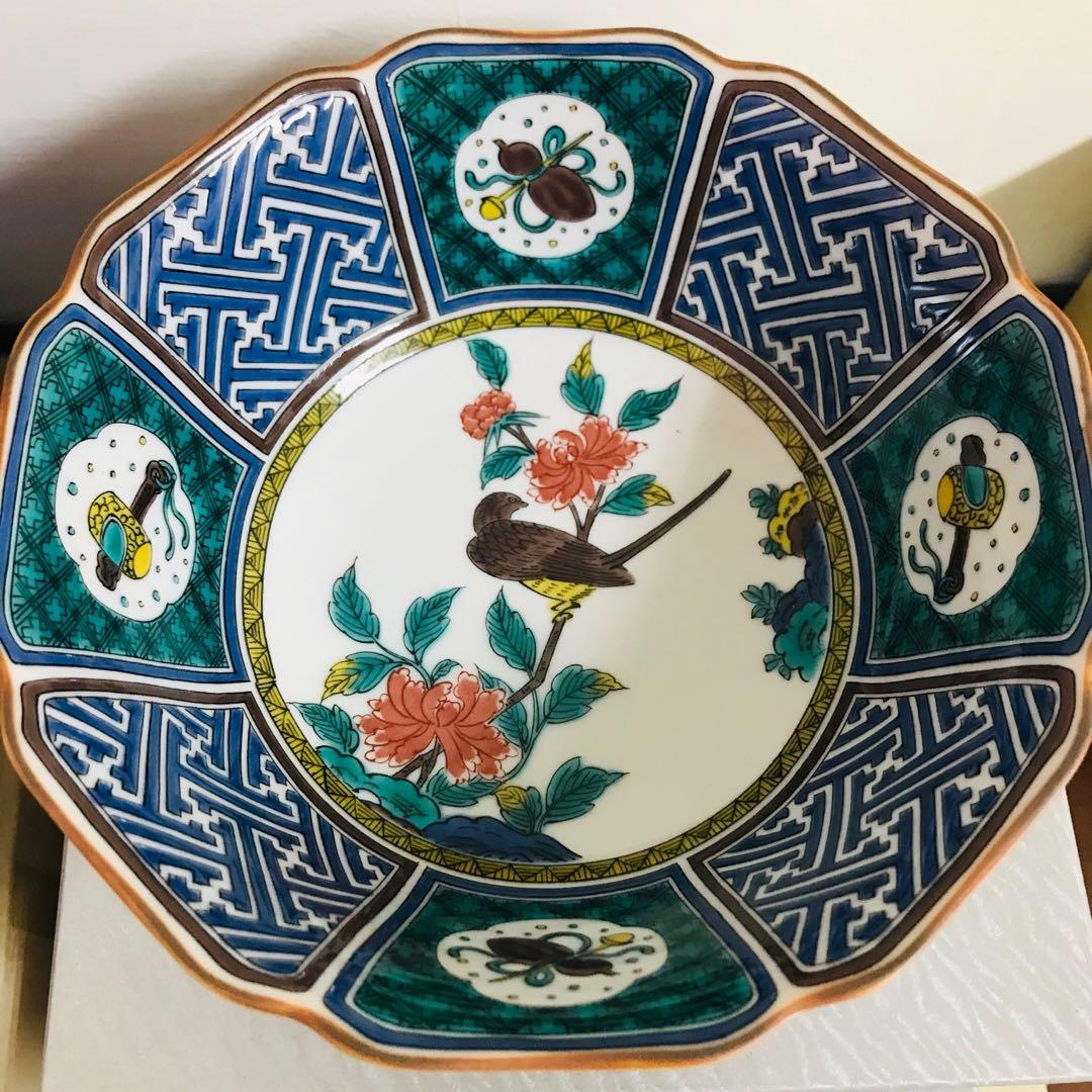 全新現貨 日本進口 九谷燒 花鳥實圖 日式彩瓷食器 陶瓷碗盤
