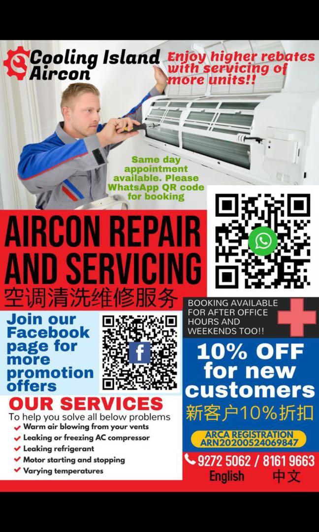 Aircon cleaning and serving