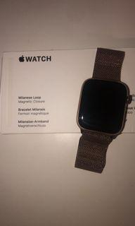 Apple Watch Series 4 Stainless Steel with Authentic Milanese Loop Band