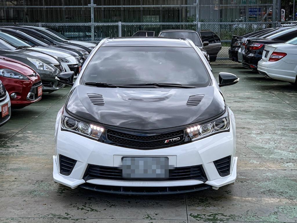 FB搜尋【世康中古車買賣】《熱門車款》2014年豐田 ALTIS Z版 TRD 白