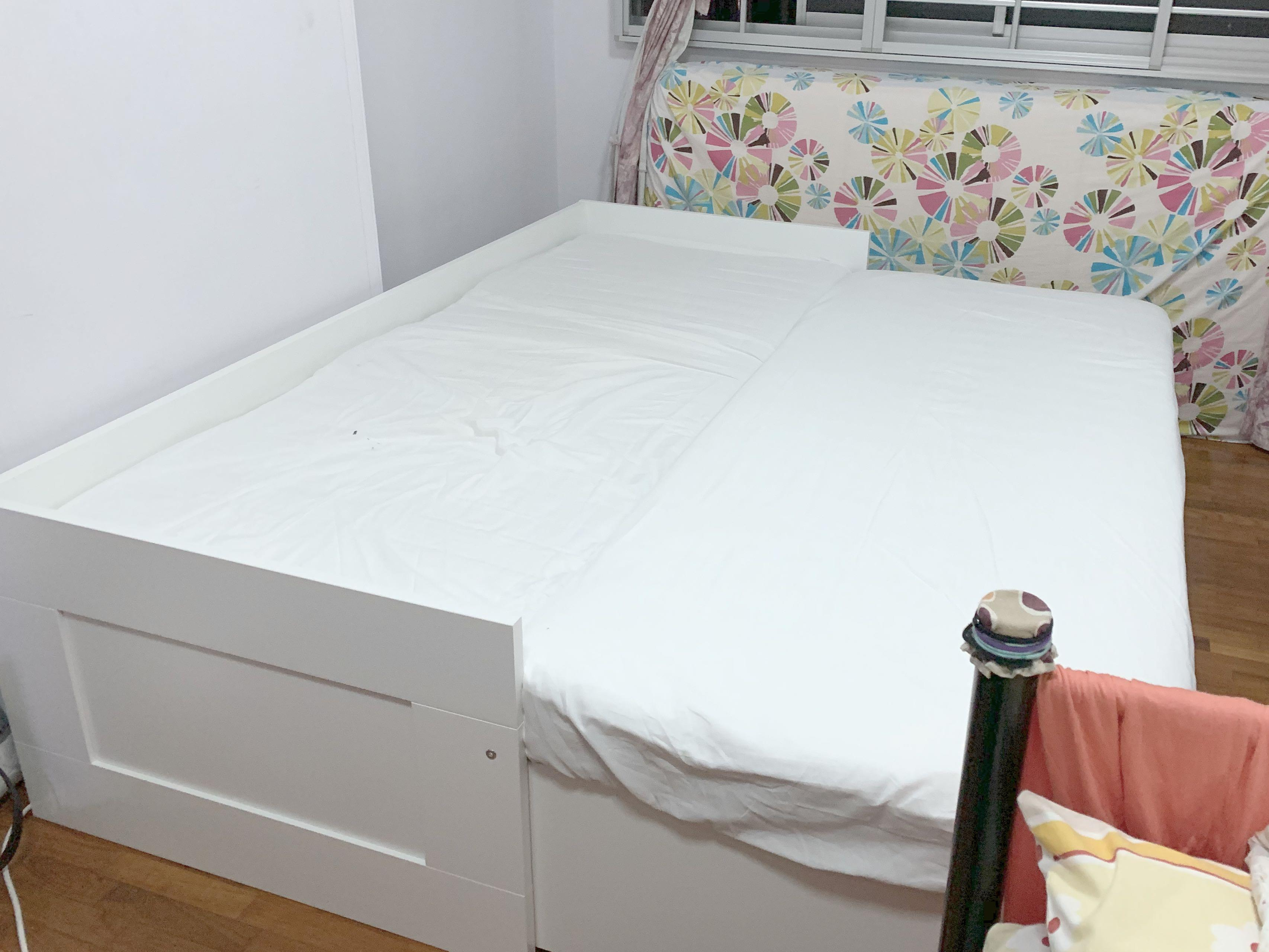 Ikea Brimnes Day Bed Frame With Mattresses Furniture Beds Mattresses On Carousell