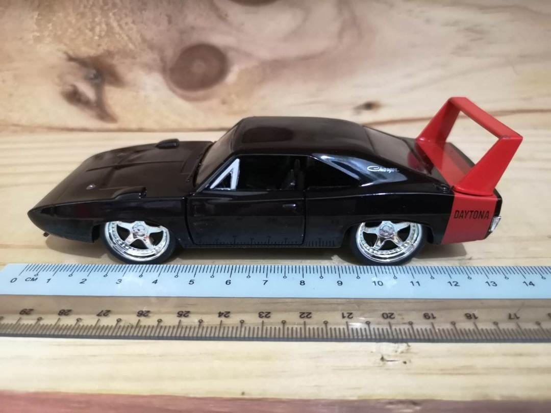 Jada Toy 1969 Dodge Charger Daytona Metal Diecast Model Black Toys Games Diecast Toy Vehicles On Carousell