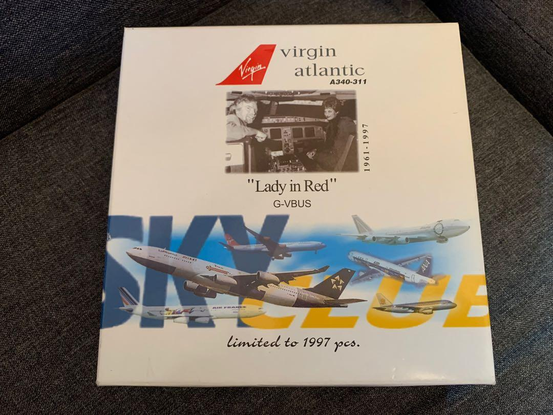 """100% New -""""Lady in Red""""  Virgin Atlantic Airways A340-311 (Limited Edition)"""