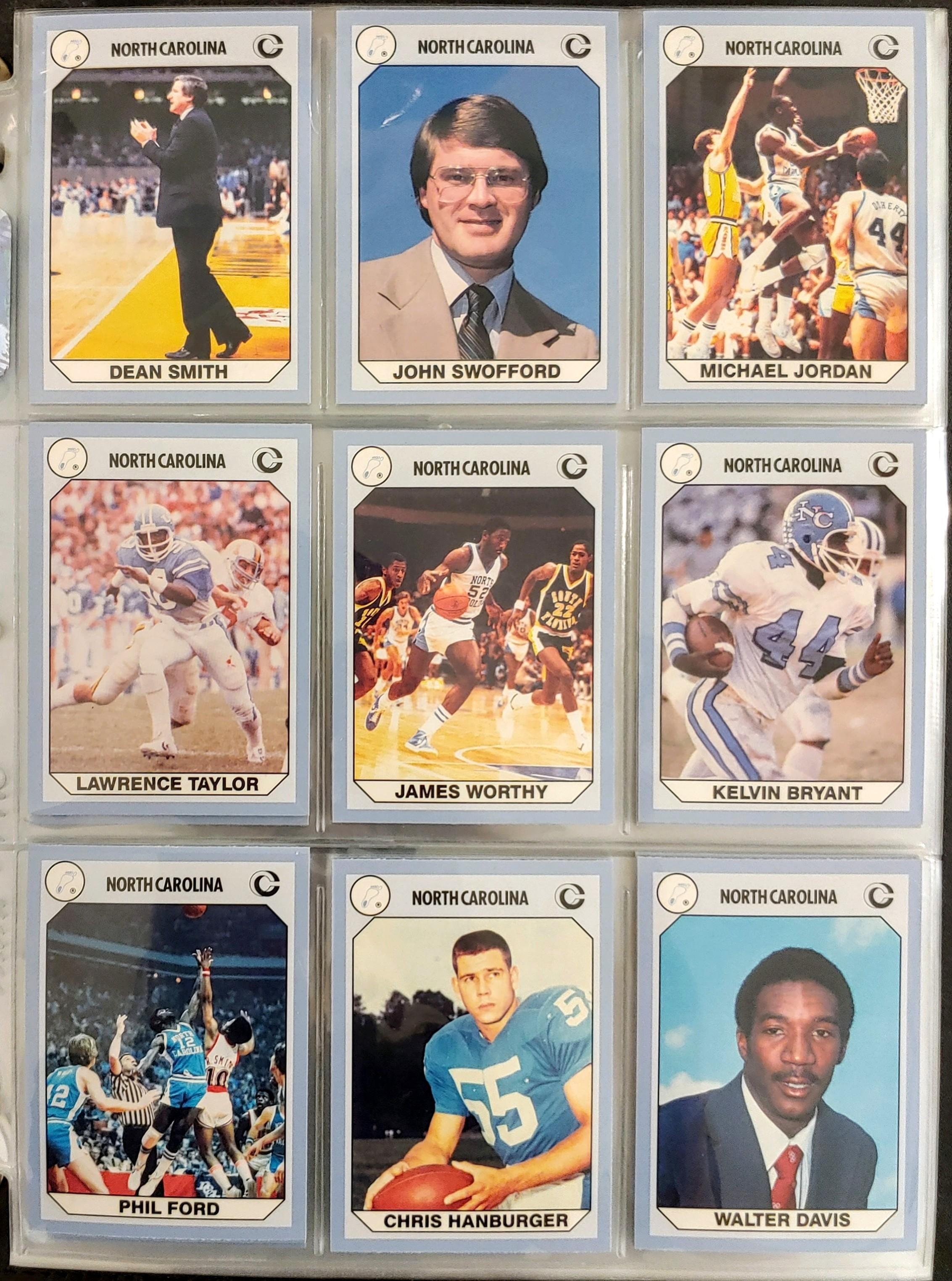 1990 Collegiate Collection North Carolina Trading Cards / Michael Jordan