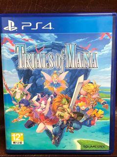 聖劍傳說3 附特典 繁體中文版 TRIALS of MANA PS4 遊戲 二手