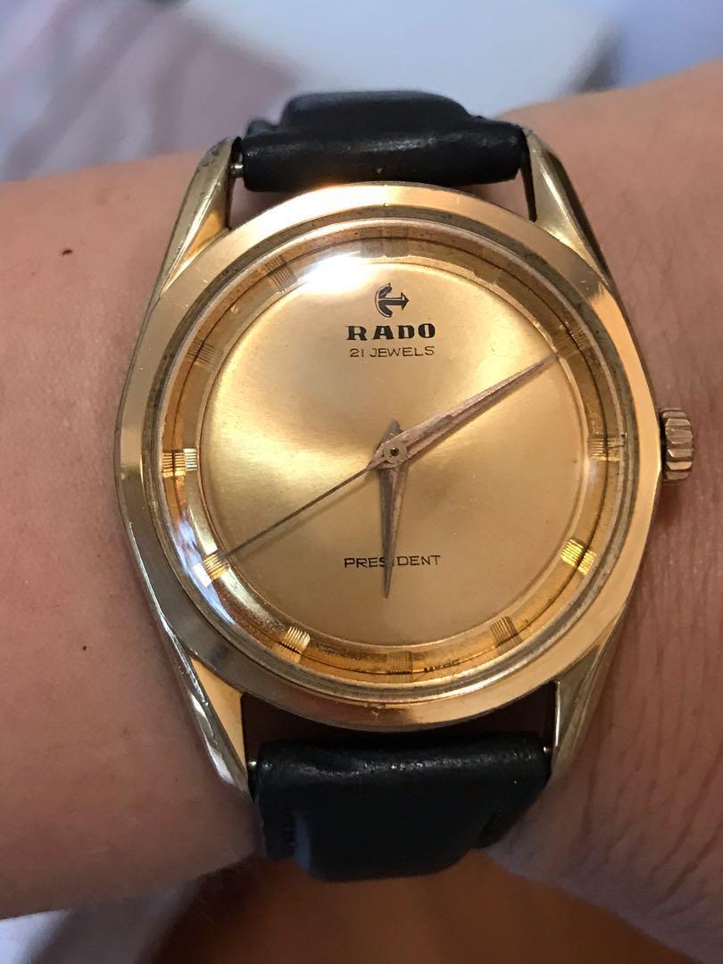 🥰70年包金Rado手上鏈手錶