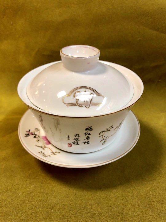90年代香港最輝煌五光十色的時代、全城富豪必到的某大日式高級夜總會絕版茶盅。全新收藏品