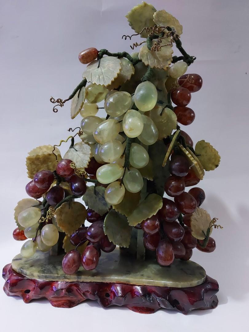 八十年代玉石盆裁擺殼
