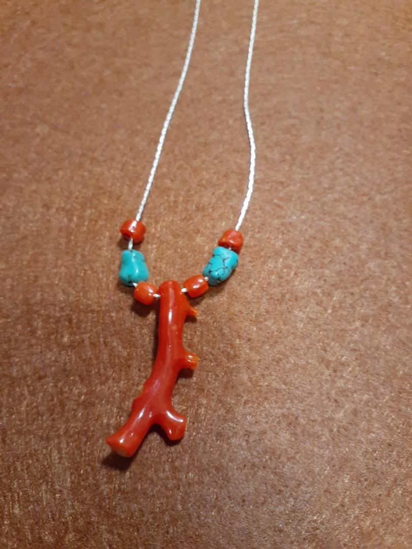 太太買落真珊瑚骨吊咀 頸鏈一條 保證真品如假包退