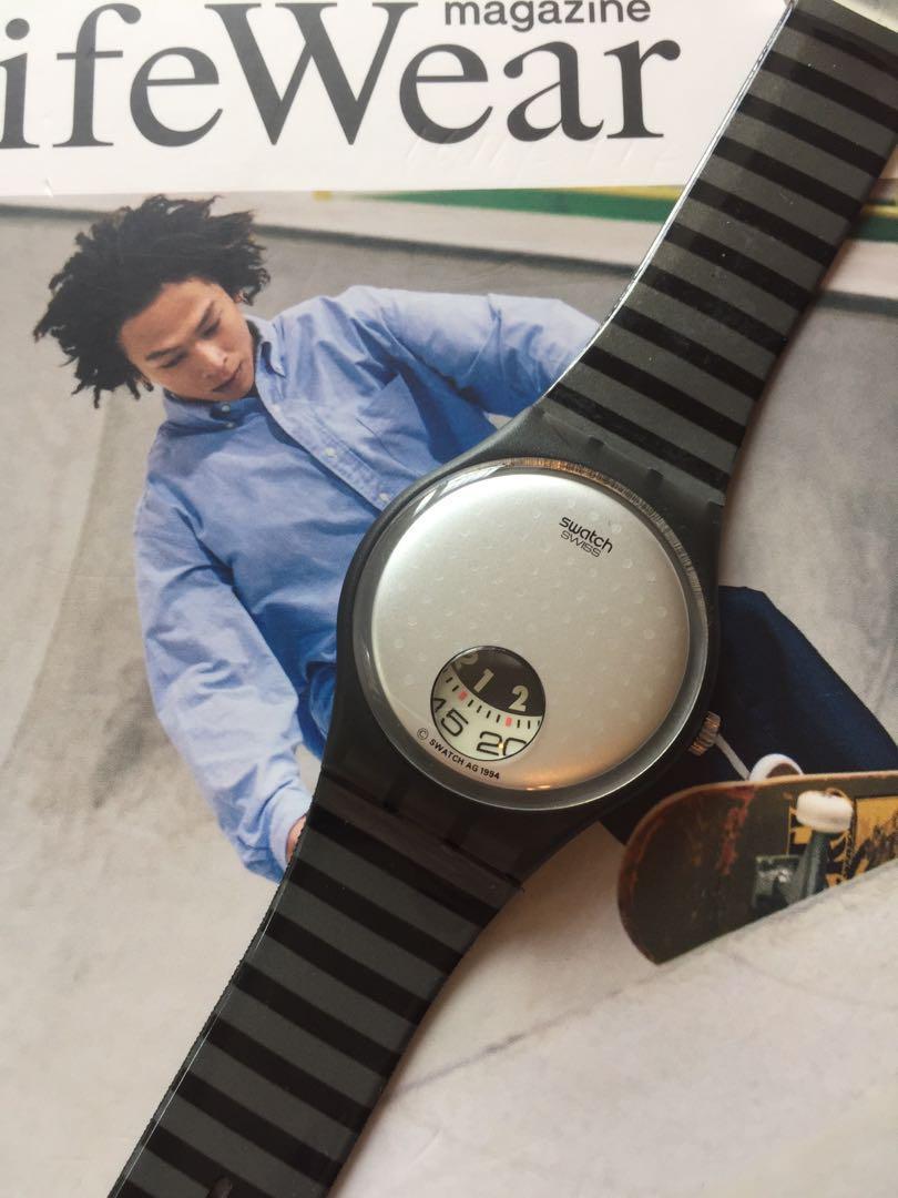 全新未用過 特別版絕版 swatch watch 1994 , 保存良好,功能100% 運作全正常