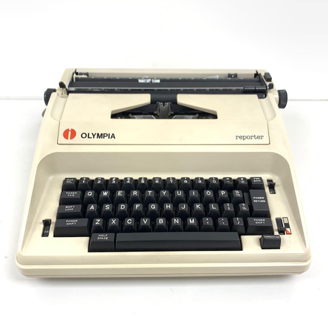 [二手古董] Olympia reporter 電動 半自動 打字機  道具 收藏 vintage electronic semi auto typewriter type 辦公室 文員 clark