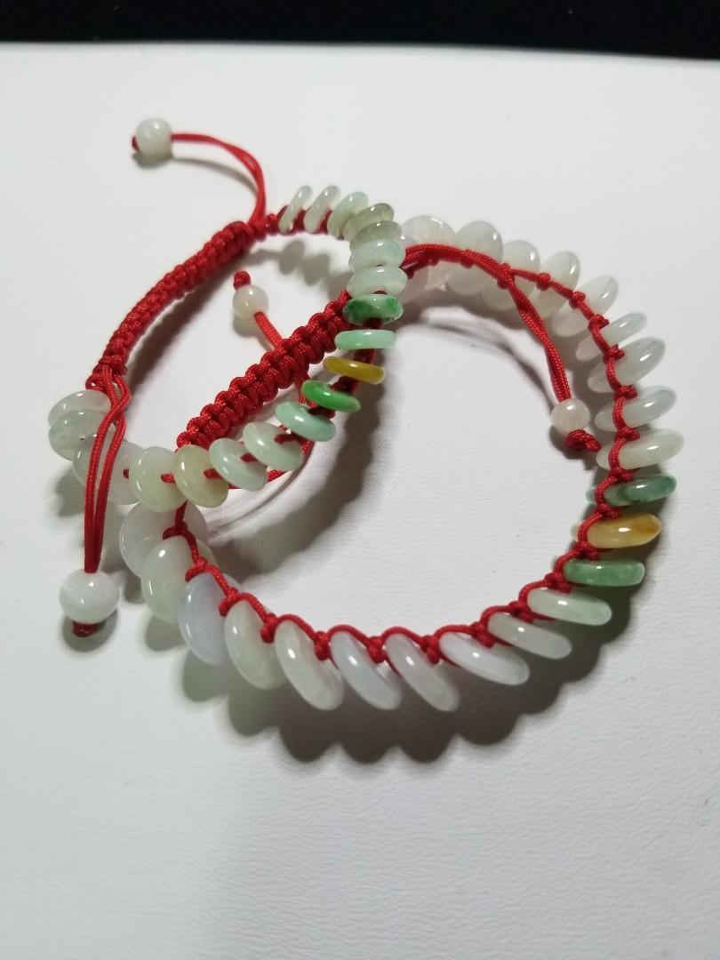 天然翡翠A貨 親子裝一大一小平安扣手繩