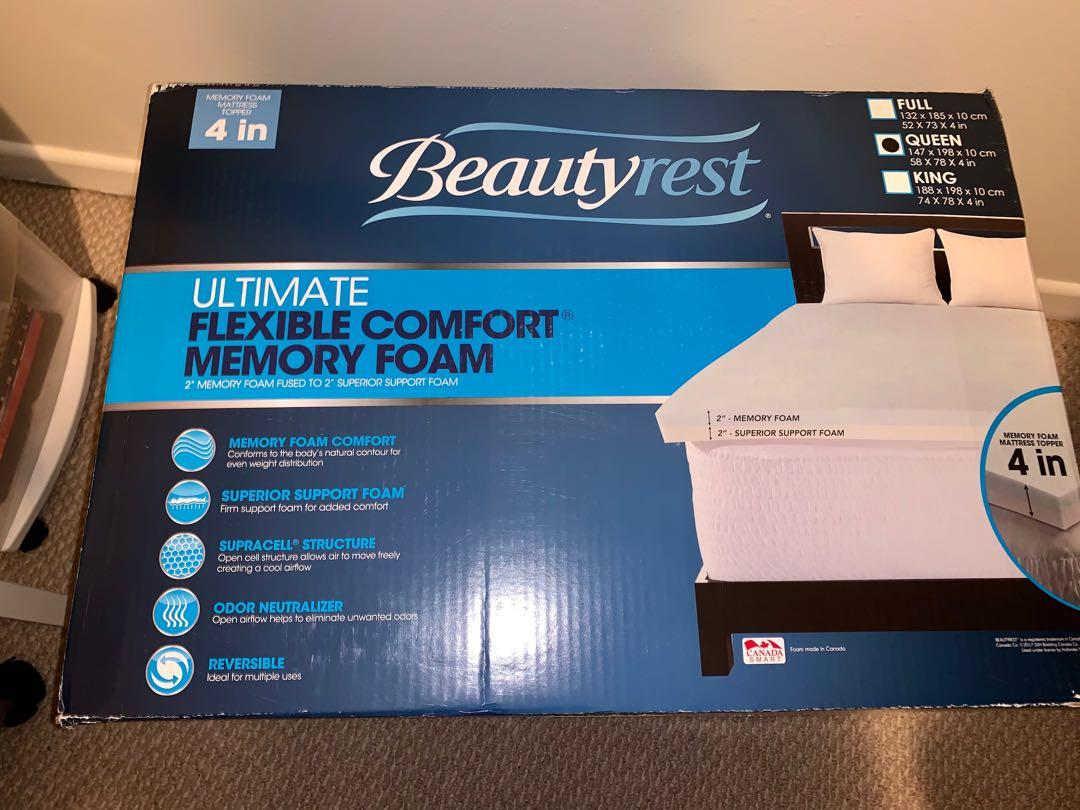 Brand new Beautyrest ultimate flexible comfort memory foam