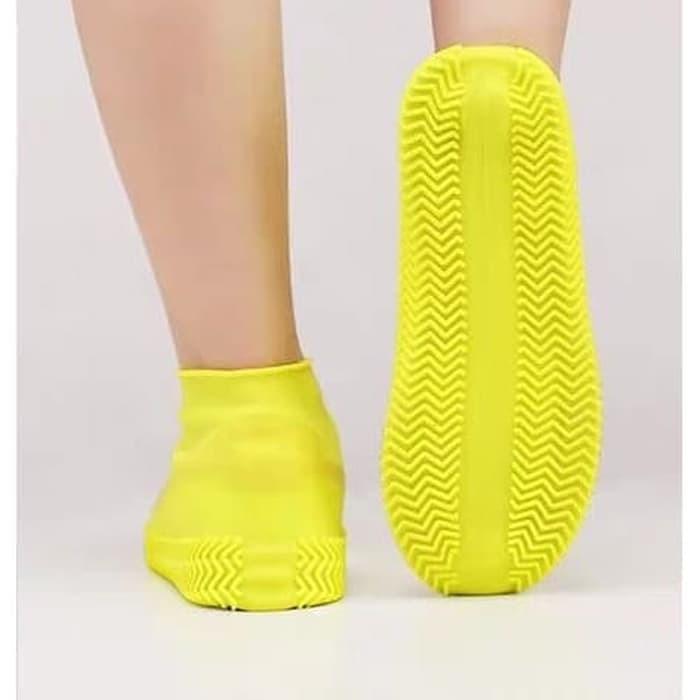 Cover Sepatu Cover sepatu Elastis Anti Air Hujan Waterproof L905 pelindung sepatu - L HOTPINK
