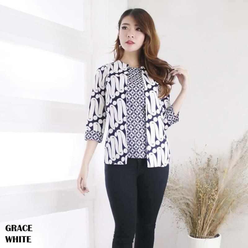 GRACE Batik Top. Unique, Modern Design And Good Quality