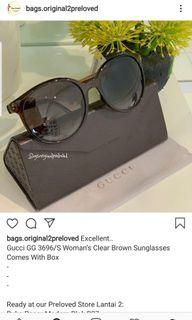 Gucci Woman's clear brow  sunglasses.