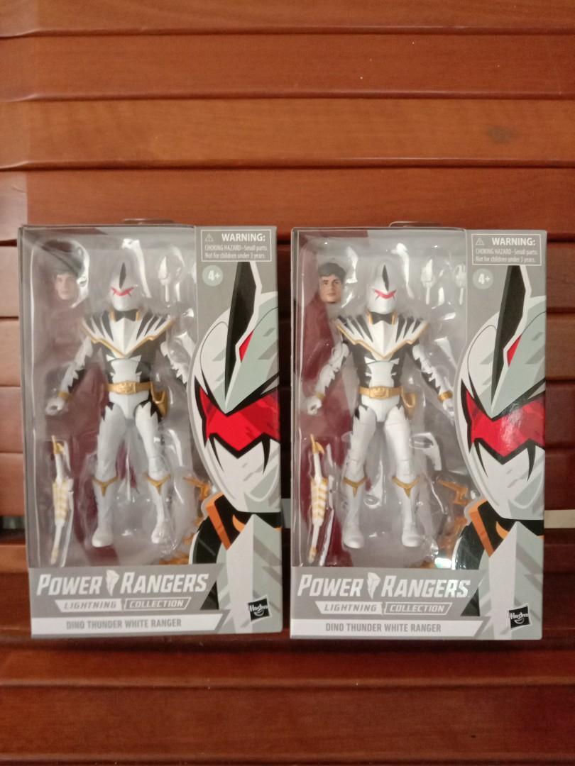 ⚡ Hasbro Power Rangers Lightning Dino Thunder White Ranger avec Remplacement Head