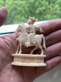 Old Bone Carved Manchu Warrior Vintage Collectibles Vintage Collectibles On Carousell