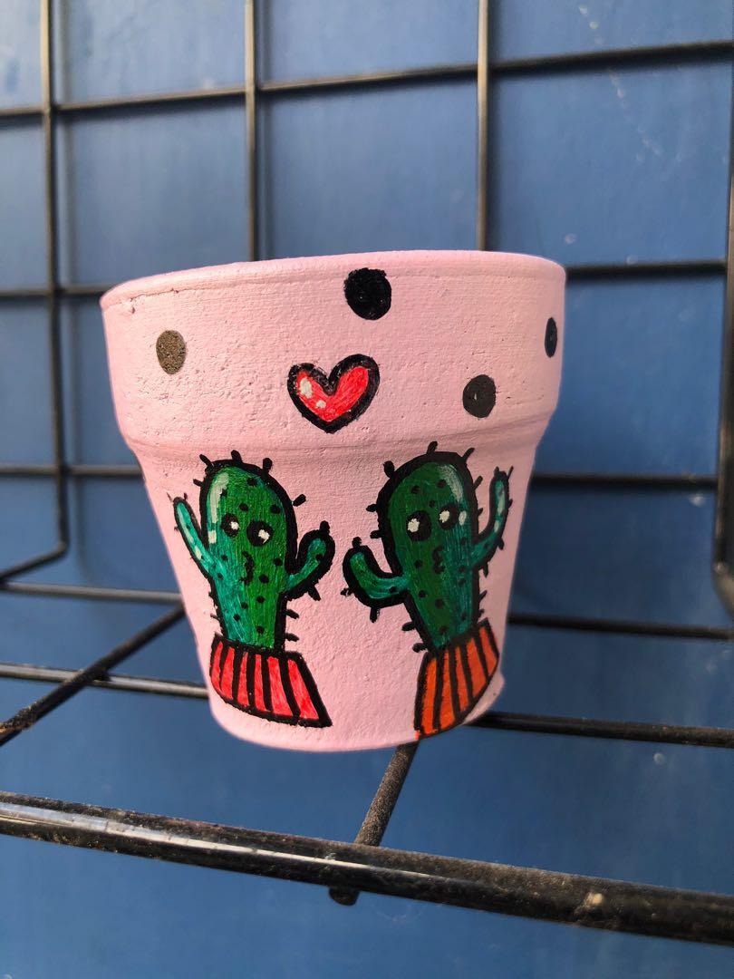 Pot Lukis / pot kaktus