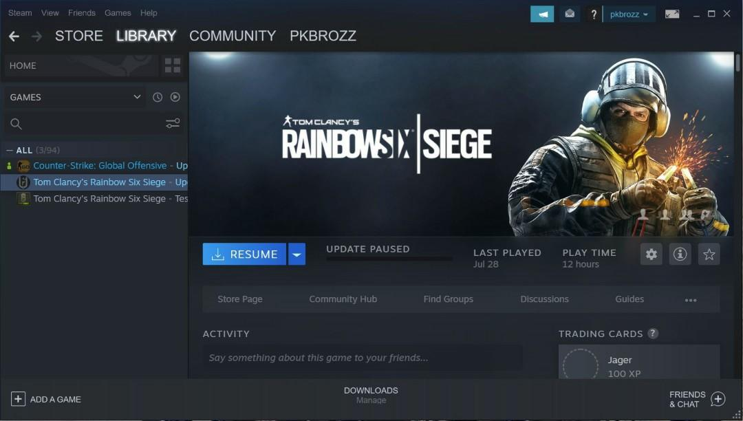 Rainbow Six Siege Steam Acc