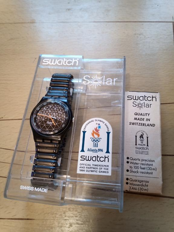 Swatch Solar Sunscratch SRM103 Black Colour made in 1996 (Brand New)