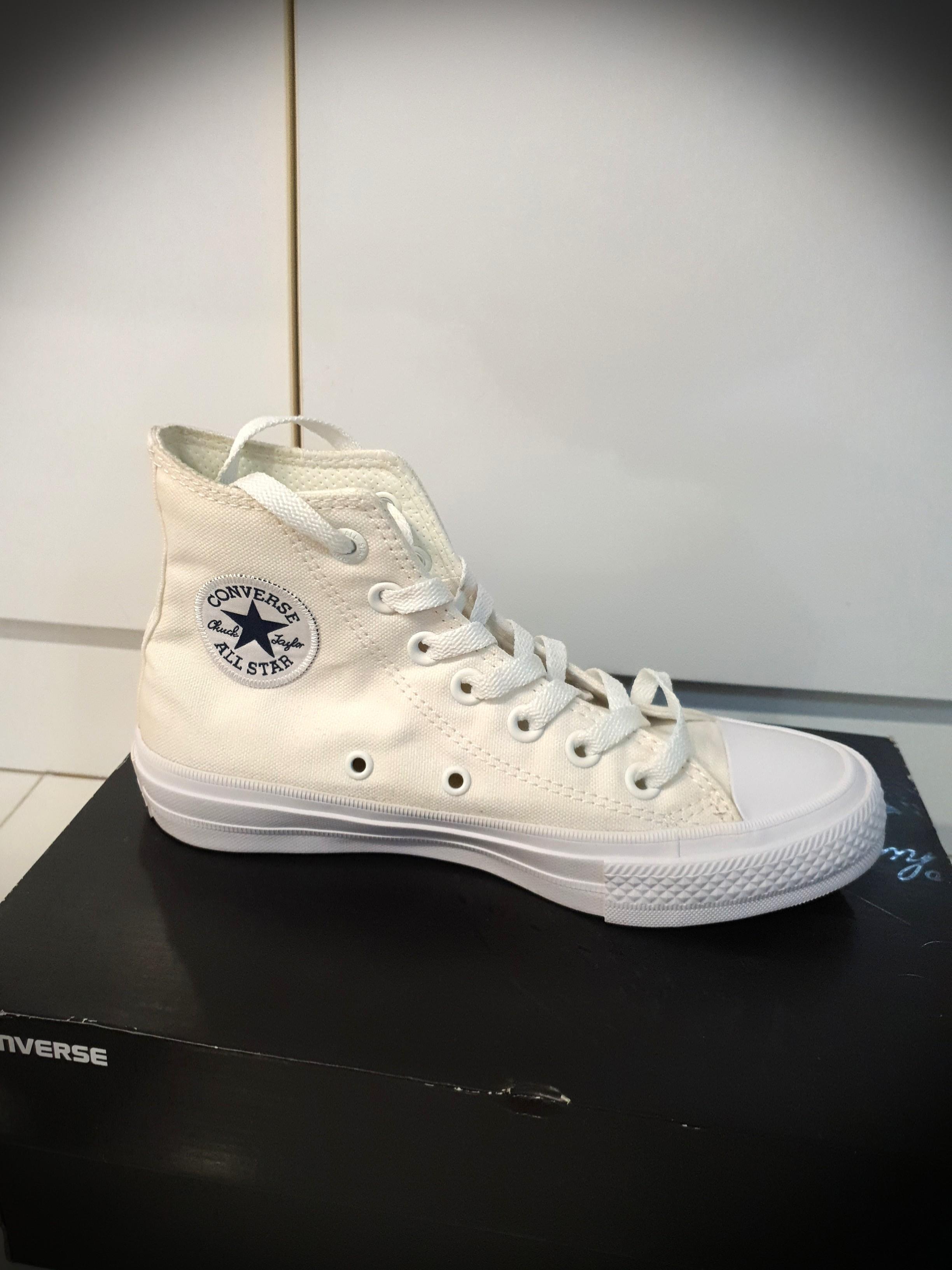 Converse High Cut White Shoes Chuck