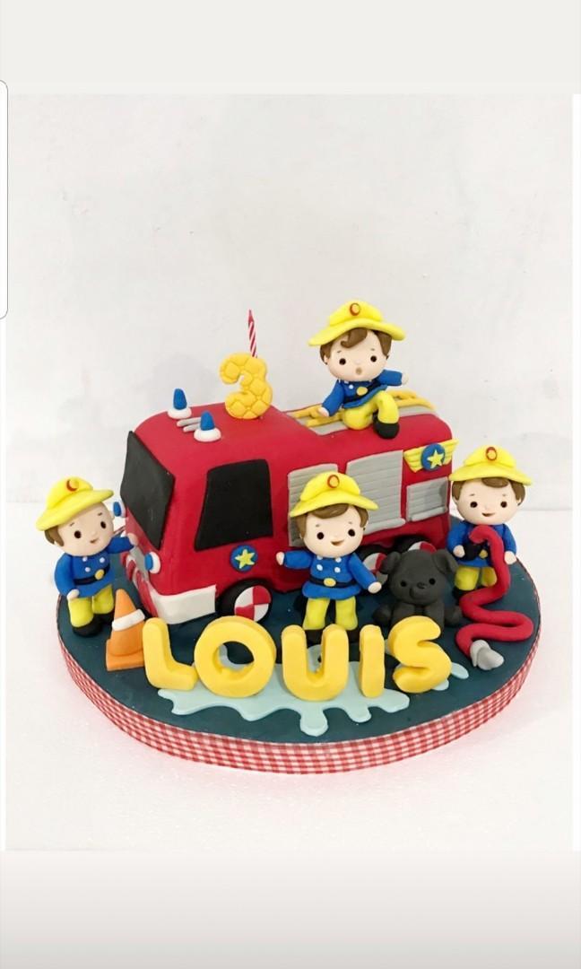 Kue Ulang Tahun Firefighter