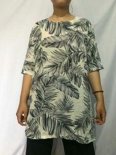 Long tunik floral atasan wanita