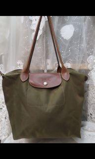 Longchamp M號長柄提包
