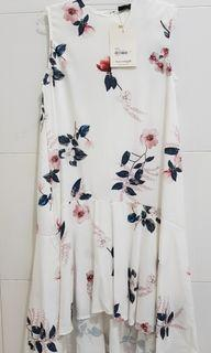 White Floral Midi Dress This is April