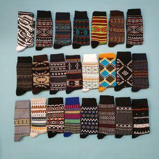 12 pasang kaoskaki oldschool motif tribal remaja dewasa murah