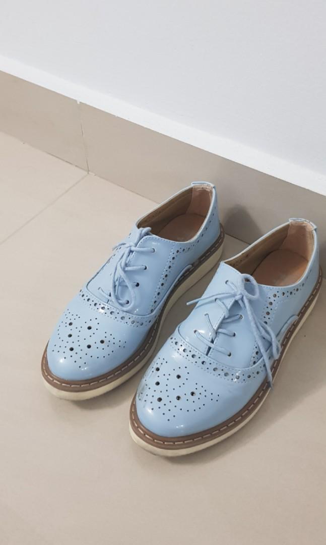 Baby blue oxford shoes, Women's Fashion